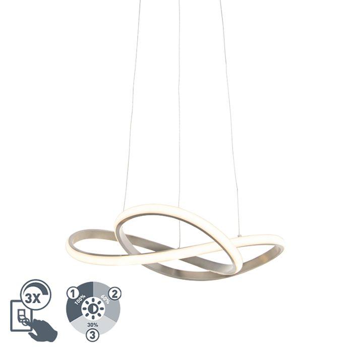 Lámpara-colgante-diseño-acero-regulable-3-pasos-LED---RUTA