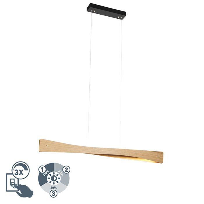 Lámpara-colgante-rústica-madera-LED-regulable-3-niveles---SJAAK