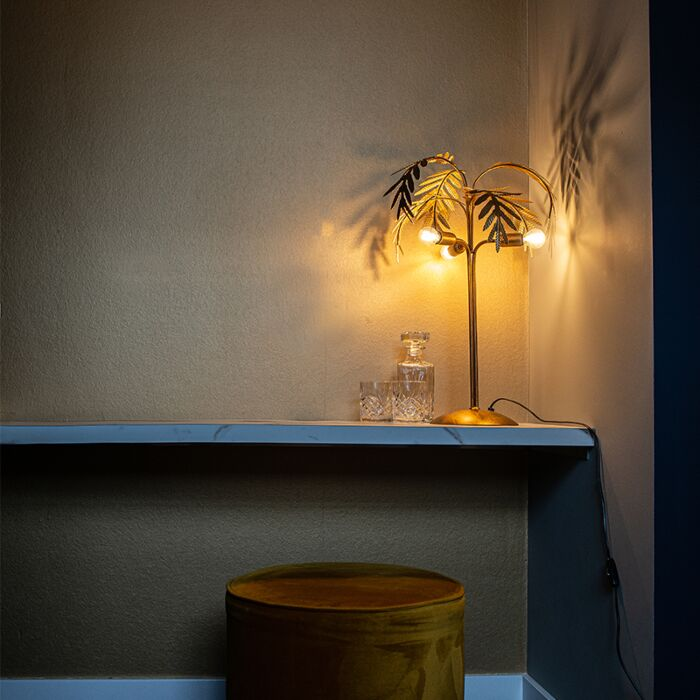 Lámpara-de-mesa-Art-Déco-dorado-3-luces---BOTANICA