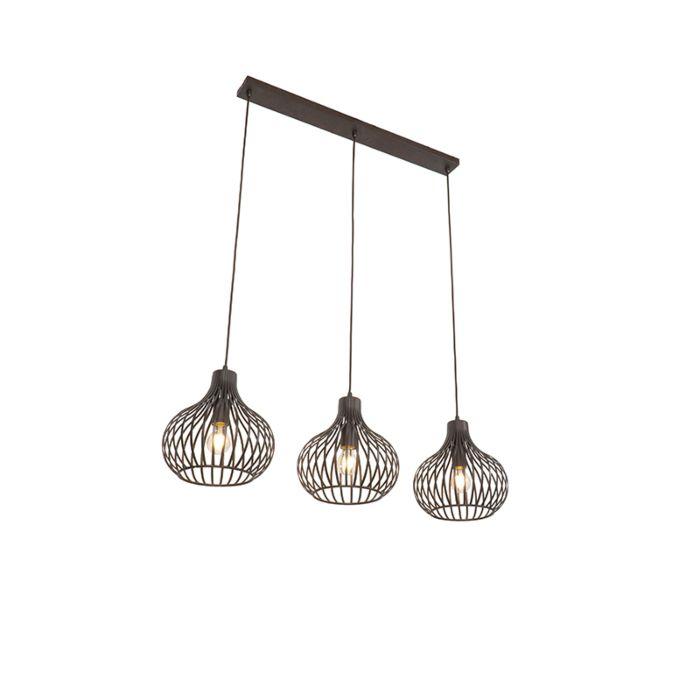 Moderne-hanglamp-bruin-3-lichts---Frances-Q