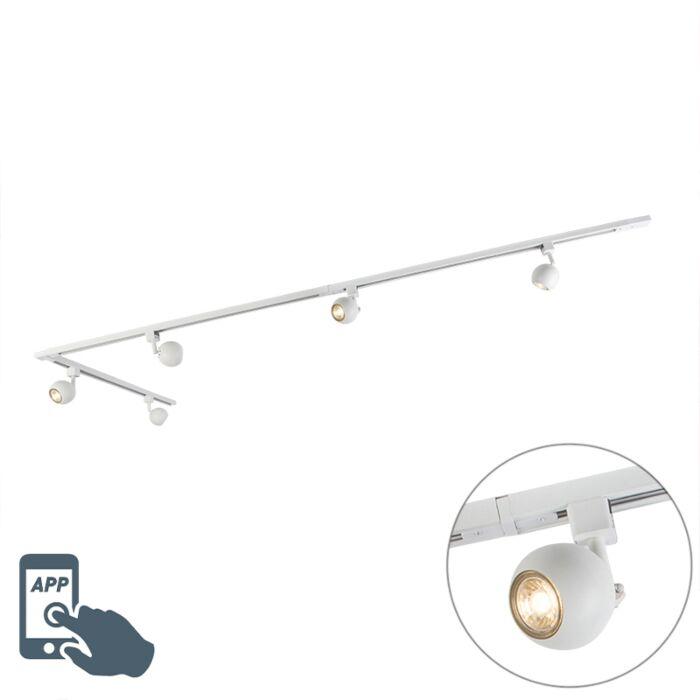Sistema-de-carril-monofásico-blanco-5-bombillas-Wifi-GU10---GISSI