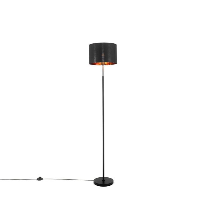 Lámpara-de-pie-moderna-negra-oro---VT-1