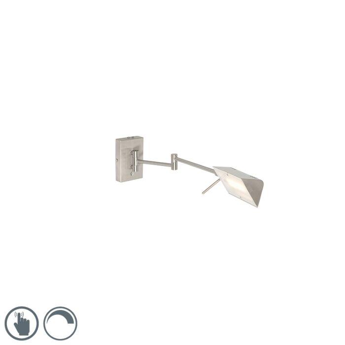 Aplique-moderno-acero-LED-regulador-táctil---NOTIA
