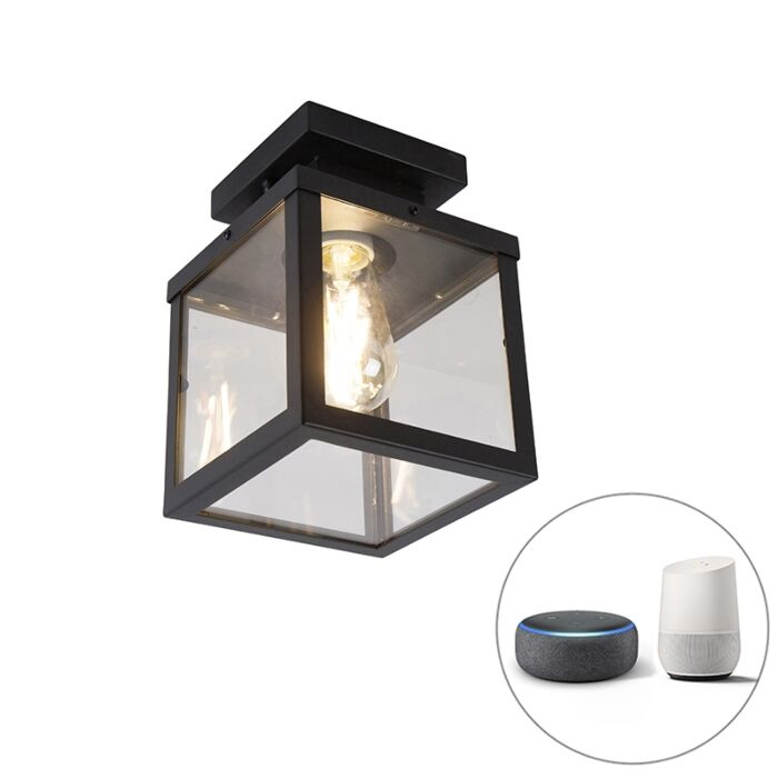 Lámpara-de-techo-industrial-negra-ST64-Wifi---ROTTERDAM