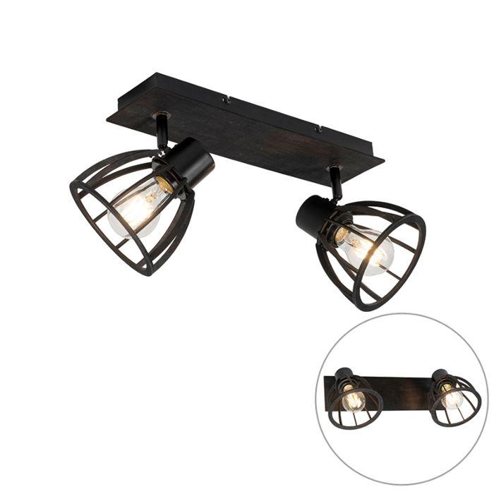Plafón-industrial-negra-2-luces---FOTU