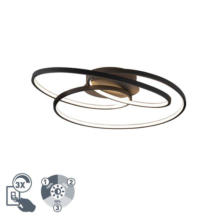 Plafón-negro-60cm-LED-regulable-3-pasos---ROWIN