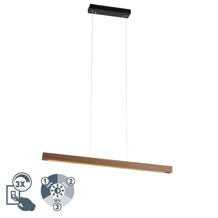 Lámpara-colgante-moderna-madera-LED-regulable-3-niveles---HOLZ