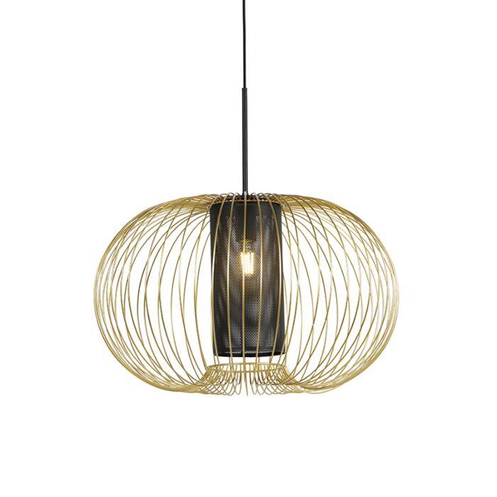 Lámpara-colgante-diseño-dorado/negro-60cm---MARNIE