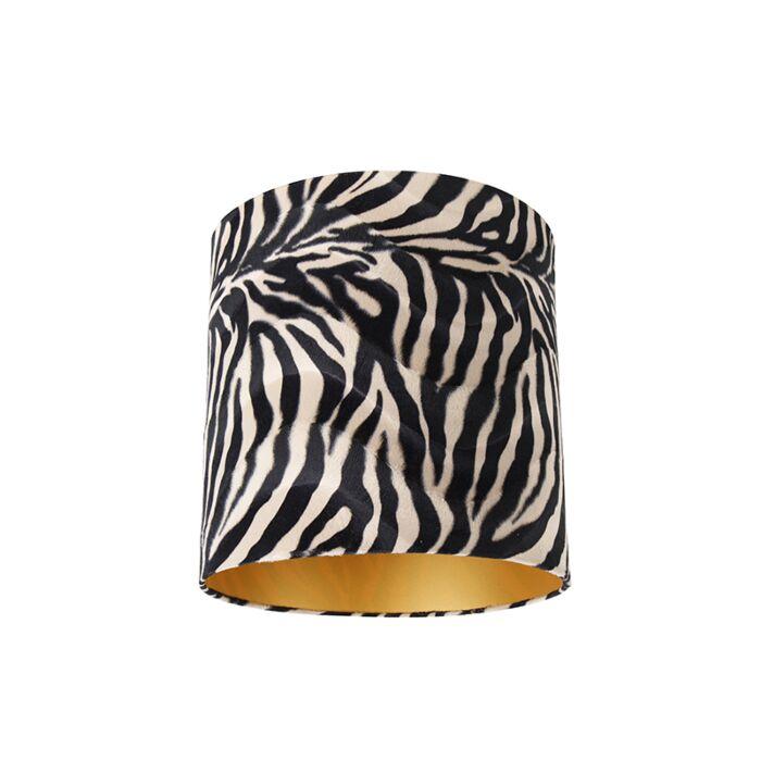 Pantalla-terciopelo-diseño-cebra-40/40/40-dorado-interior