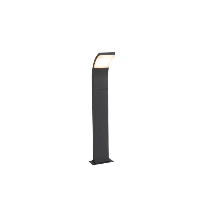 Moderne-buitenpaaltje-grijs-incl.-LED-IP54---Litt