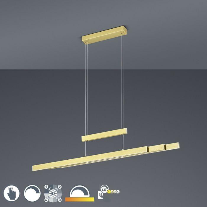 Lámpara-colgante-dorada-regulable-3-estados-táctil-3-luces-LED---SOFIE