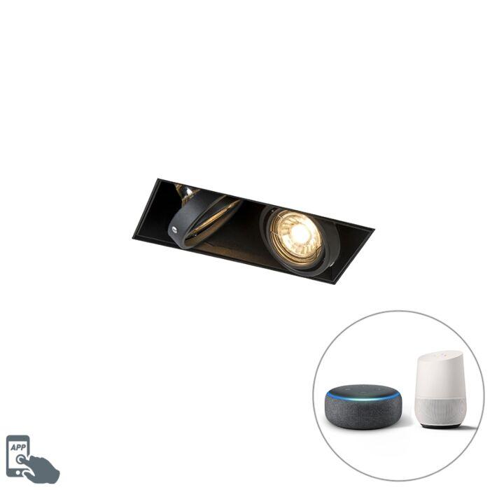 Foco-empotrado-negro-2-bombillas-Wifi-GU10-trimless---ONEON-2