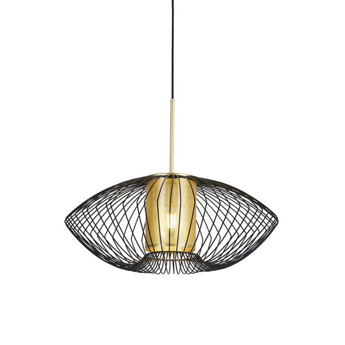 Lámpara-colgante-diseño-dorado/negro-60cm---DOBRADO