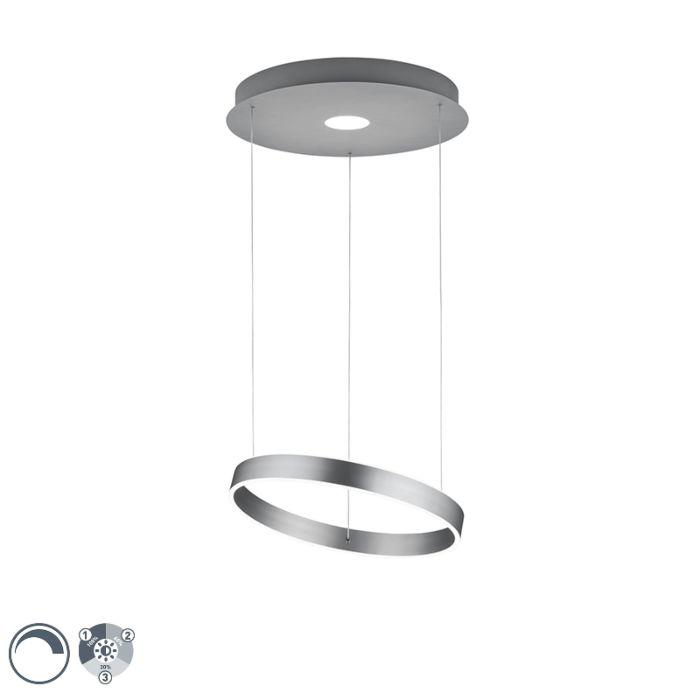 Lámpara-colgante-diseño-acero-regulable-3-estados-LED---JEROEN-