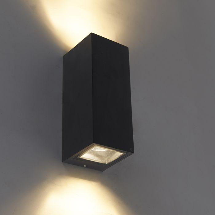 Aplique-moderno-negro-GU10-AR70-IP54---BALENO-II