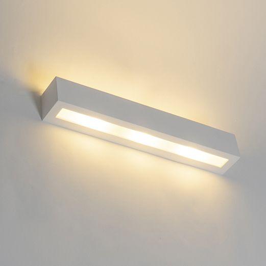 Moderne-langwerpige-wandlamp-gips-3-lichts---Tjada-Novo
