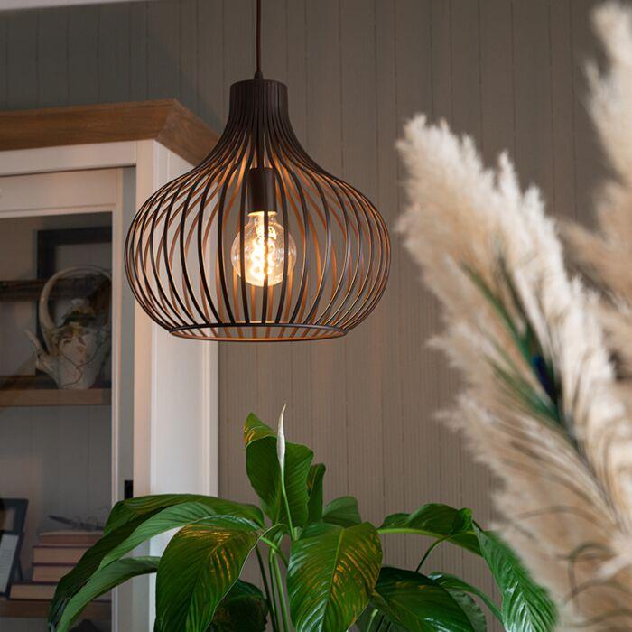Lámpara-colgante-moderna-marrón-38cm---FRANCES-Q