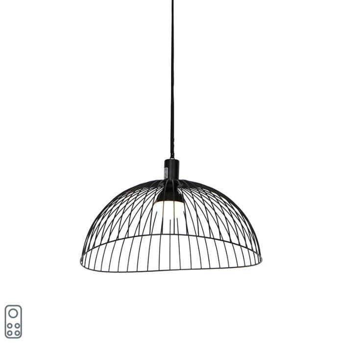 Lámpara-colgante-exterior-negro-IP44-LED-recargable-RGBW---PUA