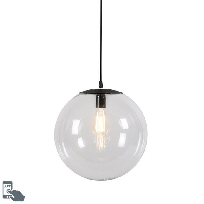 Lámpara-colgante-transparente-35cm-bombilla-WiFi-A60---PALLON