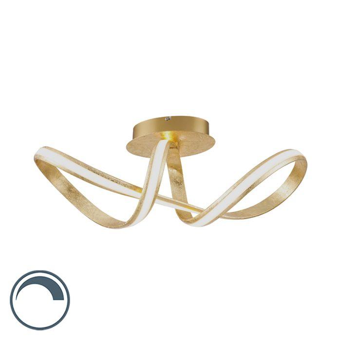 Lámpara-de-techo-diseño-dorado-LED---BELINDA-
