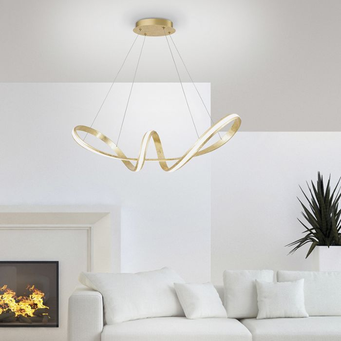 Lámpara-colgante-diseño-dorado-LED-60cm---BELINDA