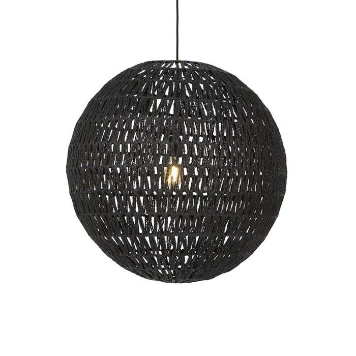 Lámpara-colgante-retro-negra-60cm---LINA-Ball