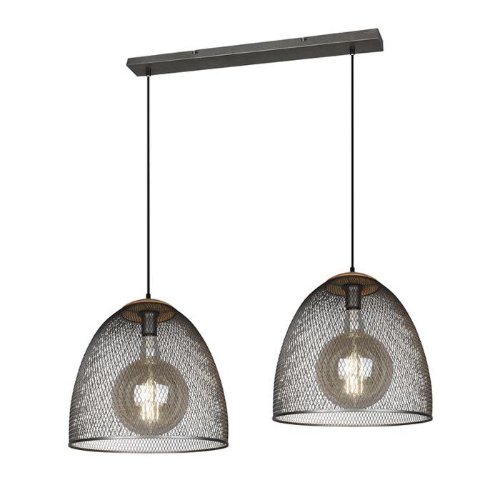 Lámpara-colgante-industrial-acero-2-luces---RAVI