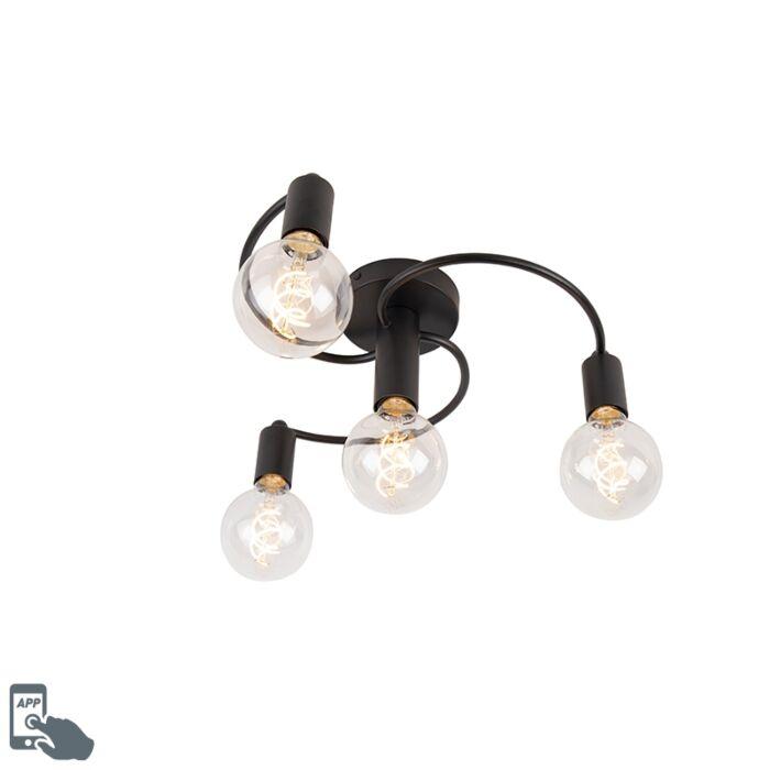 Plafón-negro-4-bombillas-WiFi-G95---FACIL