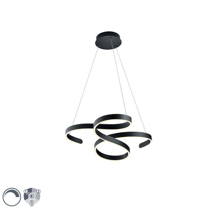Lámpara-colgante-diseño-gris-LED-regulable-3-niveles---FRANK