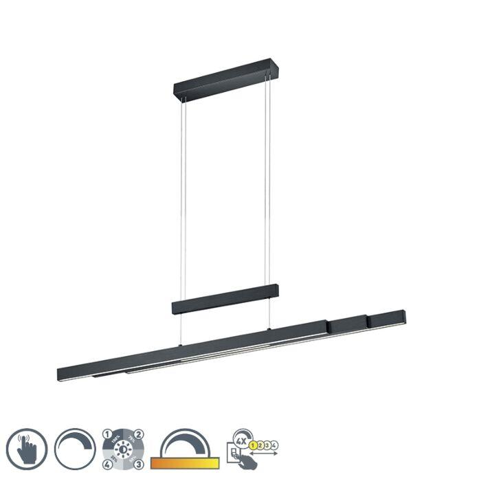 Lámpara-colgante-negra-regulable-3-estados-táctil-3-luces-LED---SOFIE