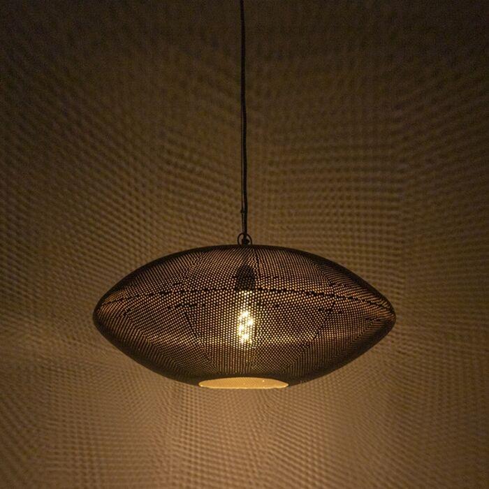 Lámpara-colgante-diseño-negro/dorado-60cm---RADIANCE