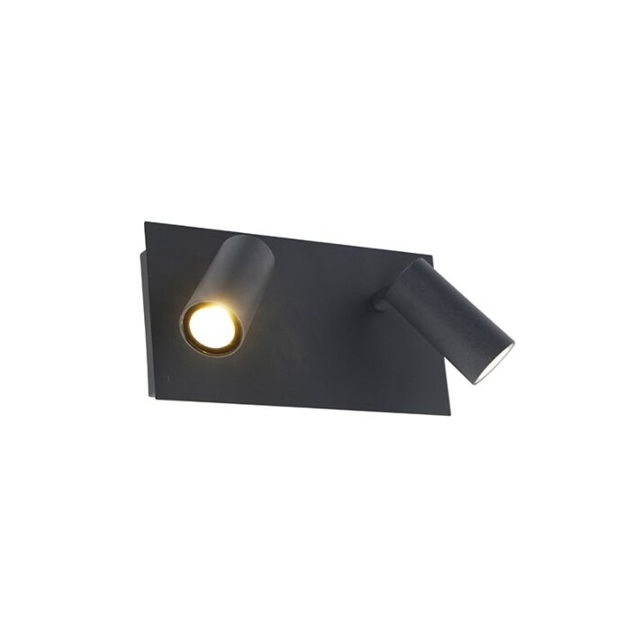 Aplique-de-exterior-moderno-gris-IP54-incl.-LED-2-luces---Simon