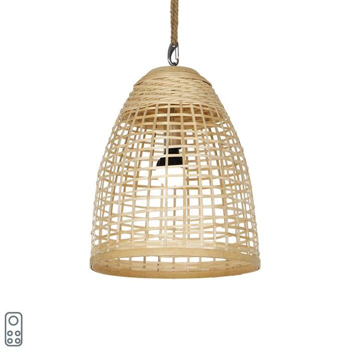 Lámpara-colgante-exterior-ratán-IP44-LED-recargable-RGBW---MAURICE