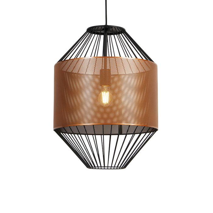 Lámpara-colgante-diseño-cobre/negro-40cm---MARISKA
