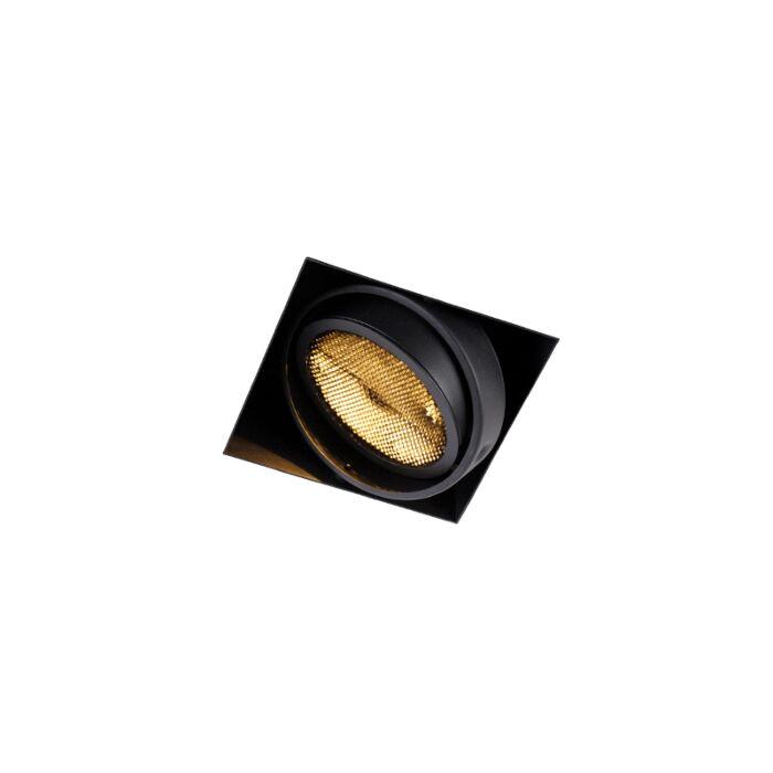 Foco-empotrado-negro-1-luz-GU10-AR111-sin-marco---ONEON-Honey
