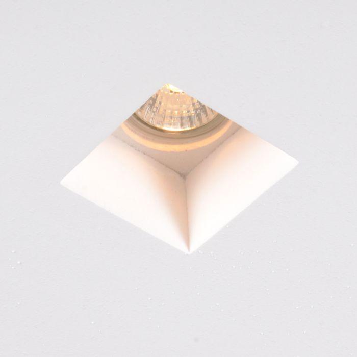 Foco-empotrao-blanco-cuadrado-12cm---GYPSY-Stucco