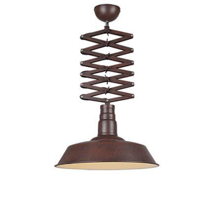 Lámpara-colgante-industrial-óxido-altura-ajustable---MANCIS