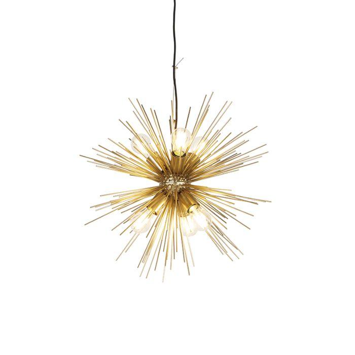 Lámpara-colgante-Art-Déco-dorado-6-luces---BROOM