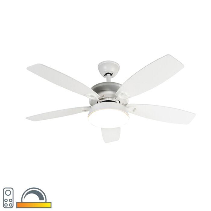 Ventilador-de-techo-diseño-blanco-LED-mando-distancia---MALAKI