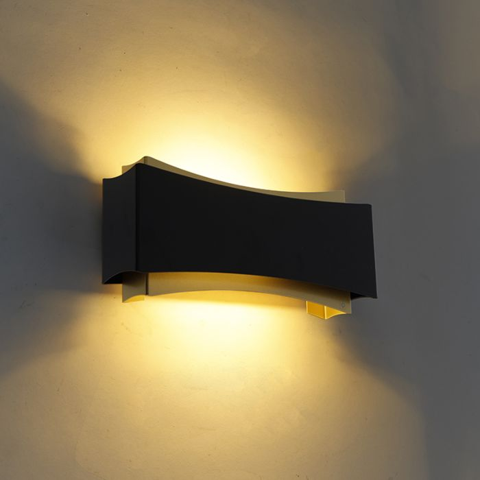 Aplique-moderno-negro/oro---PLATS