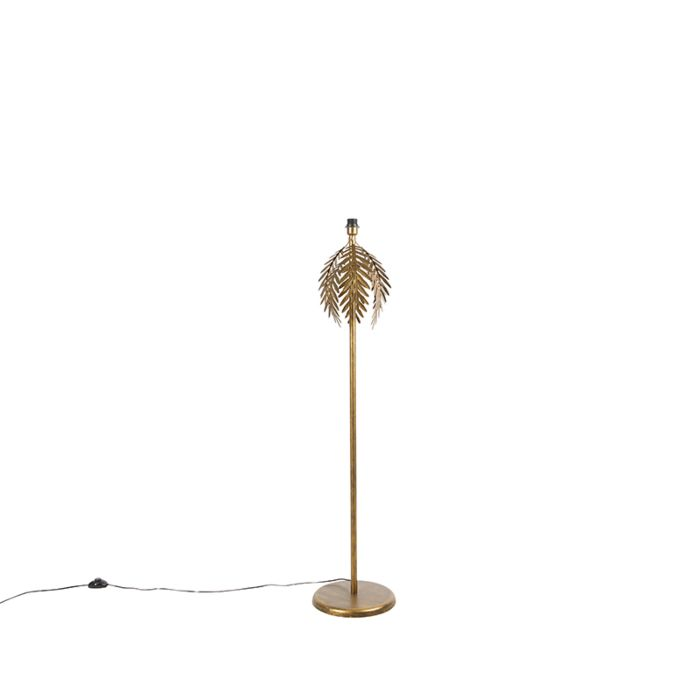 Lámpara-de-pie-vintage-dorado---BOTANICA