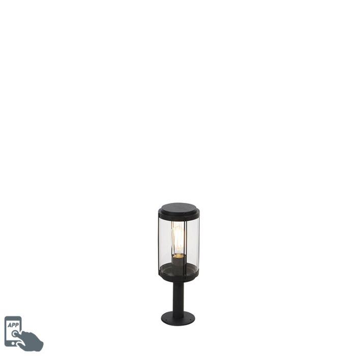 Baliza-diseño-negro-40cm-bombilla-WiFi-ST64---SCHIEDAM