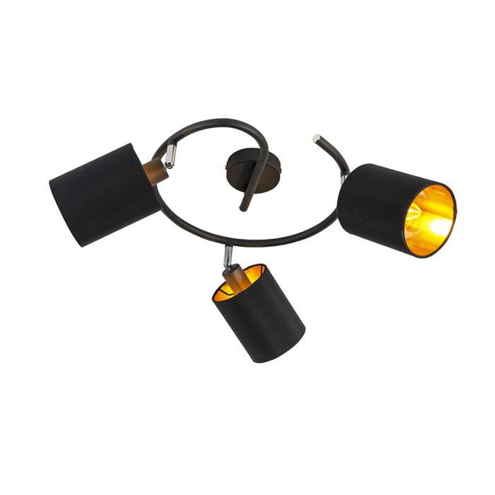 Lámpara-de-techo-moderna-negra-3-bombillas-WiFiE14-B35---LOFTY