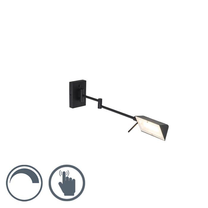 Aplique-moderno-negro-LED-regulador-táctil---NOTIA