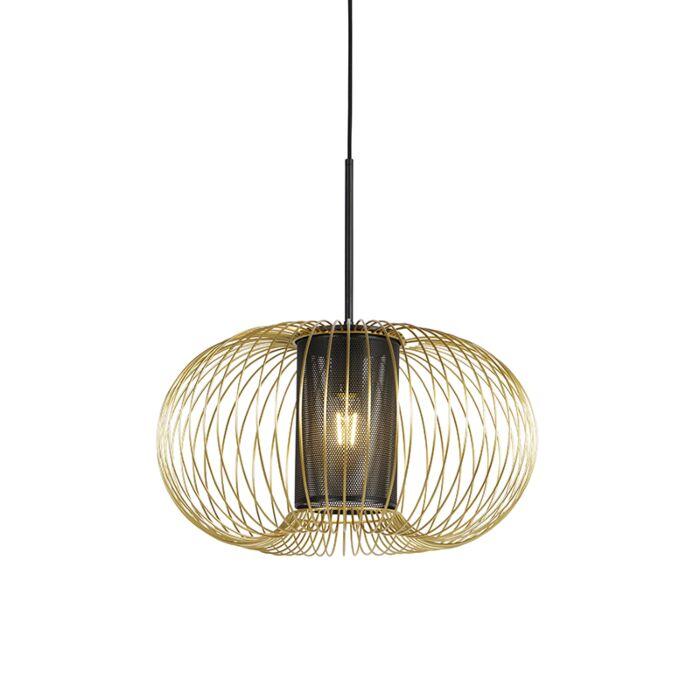Lámpara-colgante-diseño-dorado/negro-50cm---MARNIE