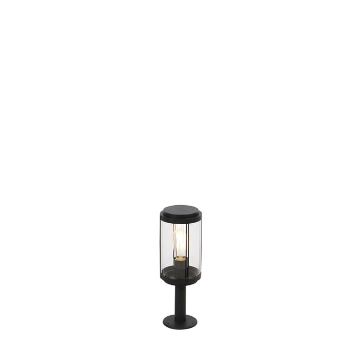 Baliza-diseño-negra-40cm-IP44---SCHIEDAM