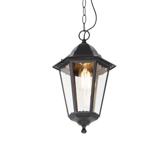 Lámpara-colgante-clásica-negra-IP44---NEW-ORLEANS-Up
