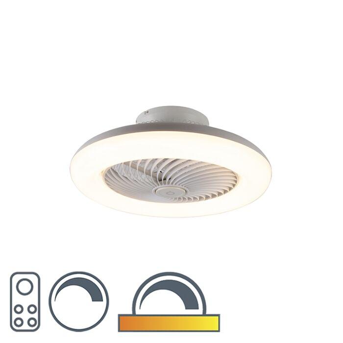 Ventilador-de-techo-diseño-blanco-LED-regulable---CLIMA