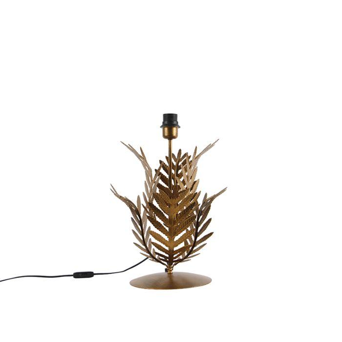 Lámpara-de-mesa-vintage-dorada-sin-pantalla---BOTANICA