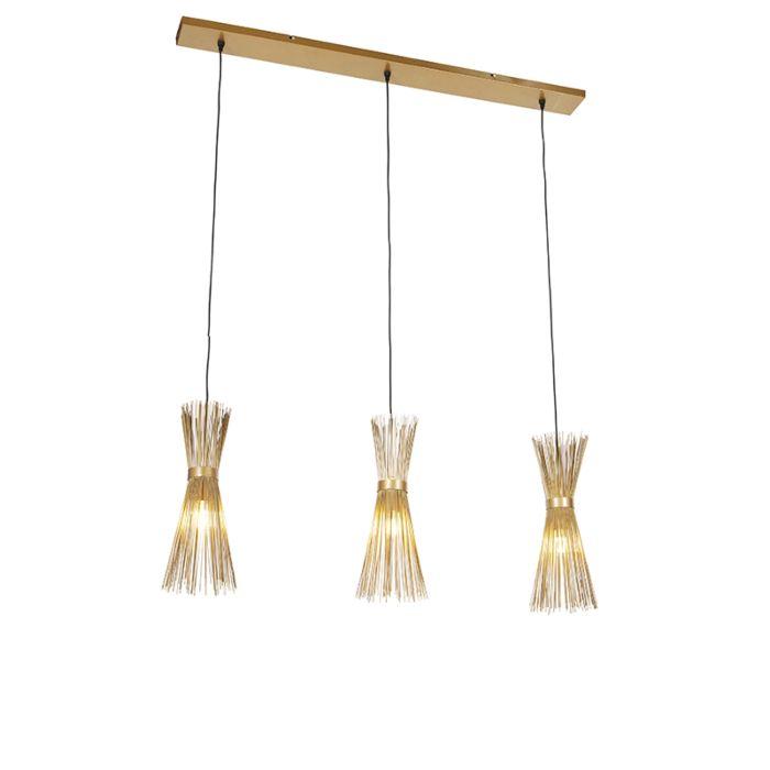 Lámpara-colgante-Art-Déco-dorado-3-luces---BROOM